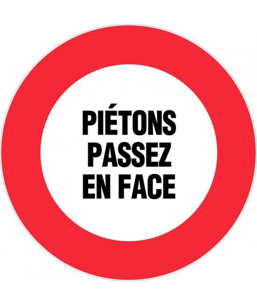 Panneau Piétons passer en face  Ø300mm NOVAP 4062150